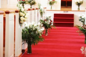 Church Decorated for Wedding