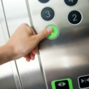 Pressing Elevator Button