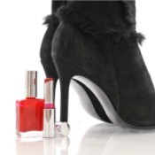 Nail Polish and Suede Boots