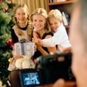 Family Taking Digital Photos