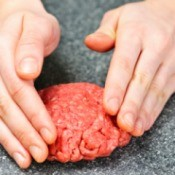 Hands Shaping Meat Patties