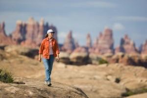 Woman Hiking in Utah