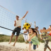 Teens Playing Volleyball