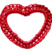 Red Crocheted Heart