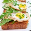 Cucumber Egg and Arugula Appetizers