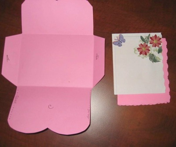 Card and unfinished envelope.