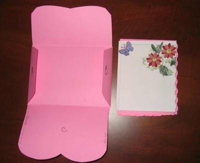 Folding envelope.
