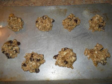 cookies on sheet before baking
