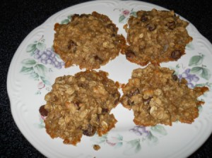 Finished cookies on a plate.
