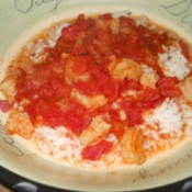 Serve over rice.