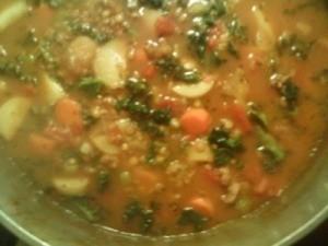 A bowl of Moroccan Lentil Soup