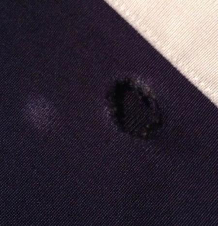 Repairing Holes in Nylon Sweatpants
