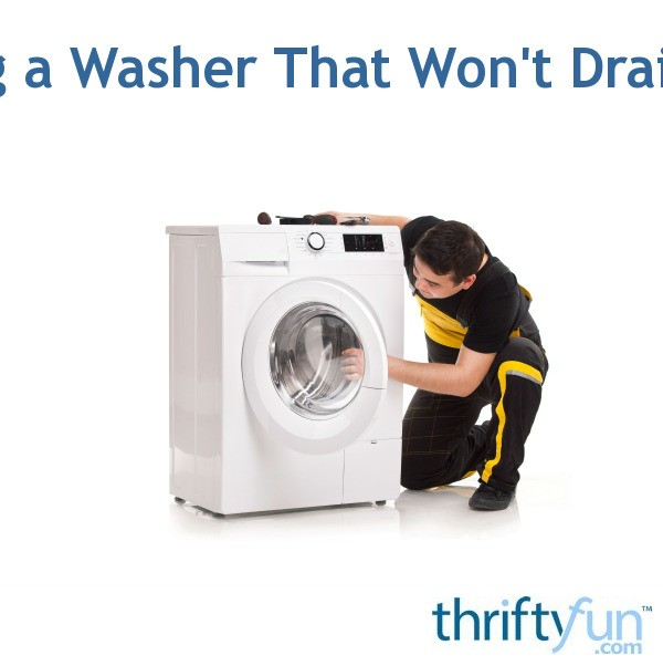 Repairing A Washer That Won't Drain Or Spin