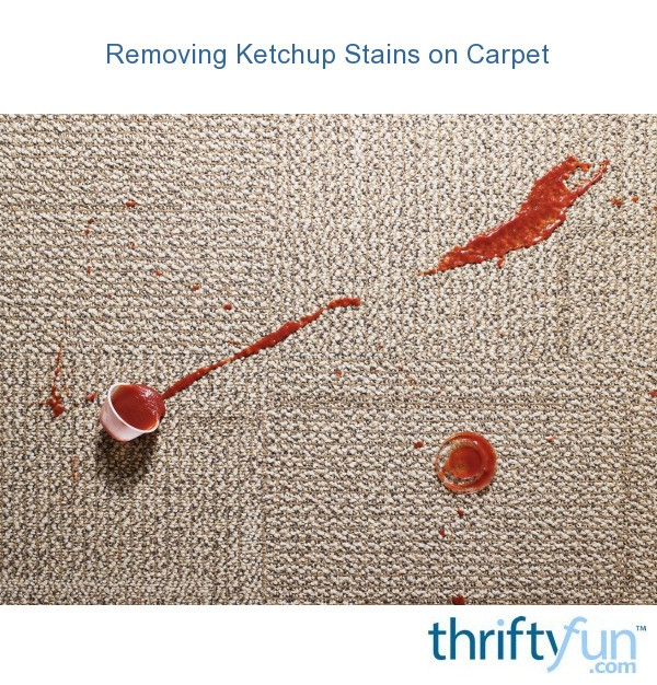 removing ketchup stains on carpet thriftyfun. Black Bedroom Furniture Sets. Home Design Ideas