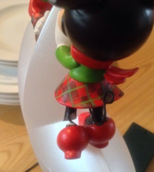 Broken Minnie Mouse ornament.