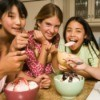 Girls at Ice Cream Social Party