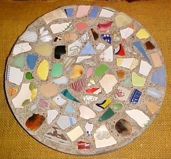 Mosaic Garden Stepping Stones Homemade stepping stones thriftyfun mosaic stepping stones workwithnaturefo