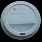 White plastic coffee lid.