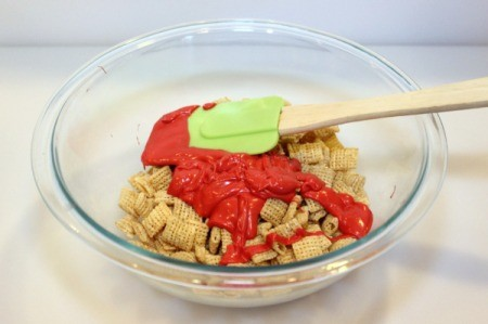 add candy melts to cereal
