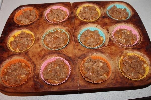 Pumpkin Apple Muffins in tins