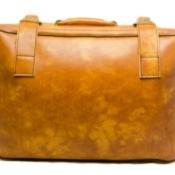 Blemished Leather Suitcase