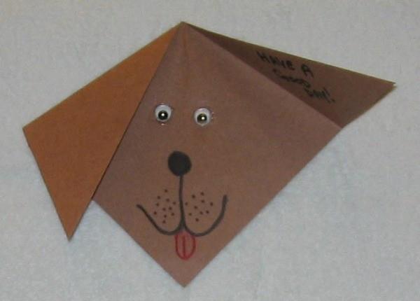 Brown puppy card.