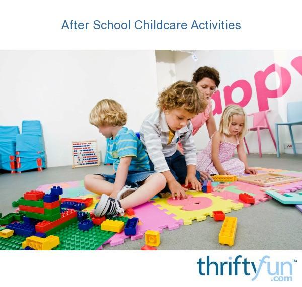 after school childcare activities