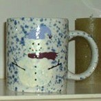 Snowman painted coffee mugs.