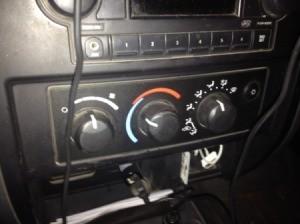 Controls on dash.