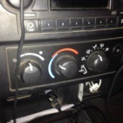 Controls on dash.