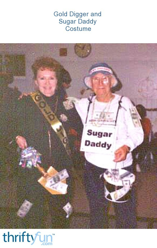 Gold digger and sugar daddy costume