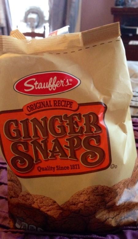 Bag of ginger snaps.