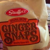 Bag of ginger snaps.