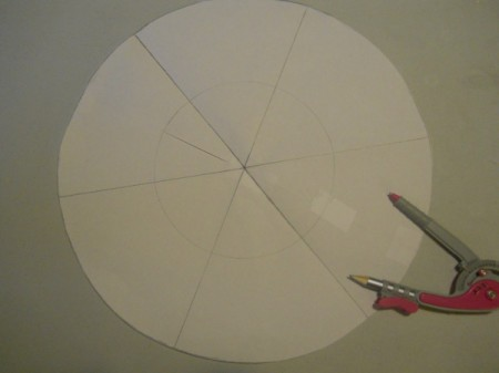 Compass and paper pattern.