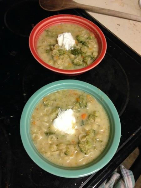 Broccoli Mac Soup