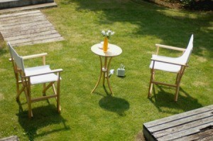 Patio Furniture on Grass