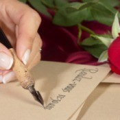 Woman Writing Calligraphy
