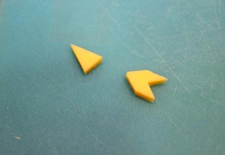 cheese arrow pieces