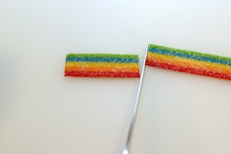 cut rainbow candy