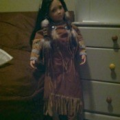 Large Native American style doll.