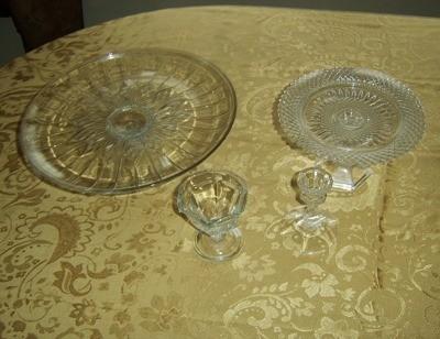 "Plates and ""pedestals""."