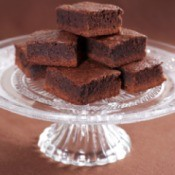 Glass Pedestal Dish With Brownies
