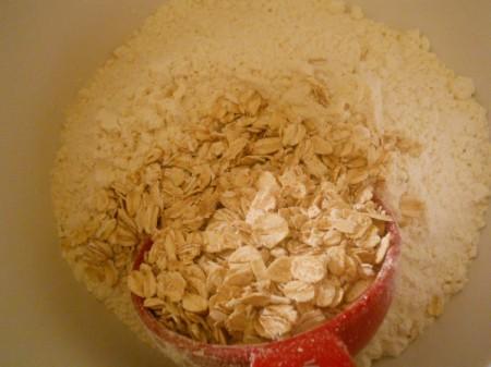 Flour and oatmeal.