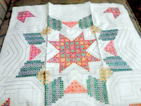 Quilt Patterns Cross Stitch : Finding WonderArt Stamped Cross Stitch Quilt Blocks ThriftyFun