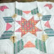 WonderArt star motif quilt block.