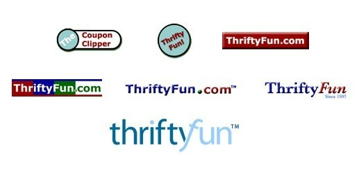 ThriftyFun's logos through the years.
