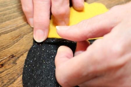 glue trim to pots