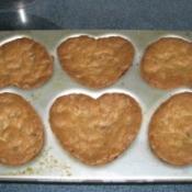 Cookies in Heart Muffin Tin