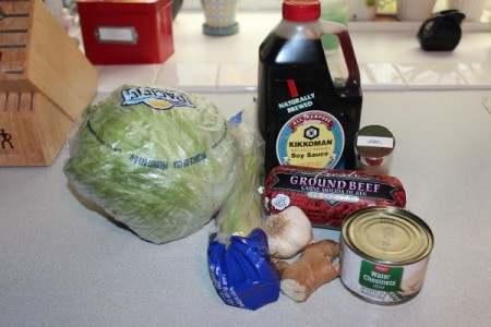 Ginger Beef Lettuce Wraps