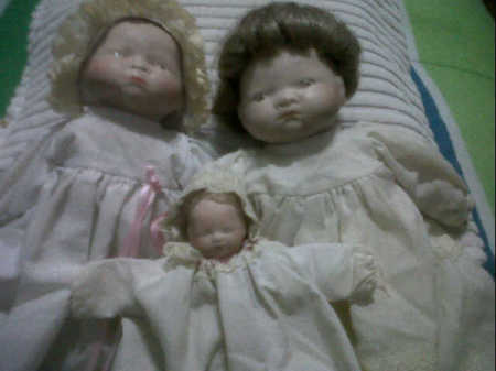 Three baby dolls.